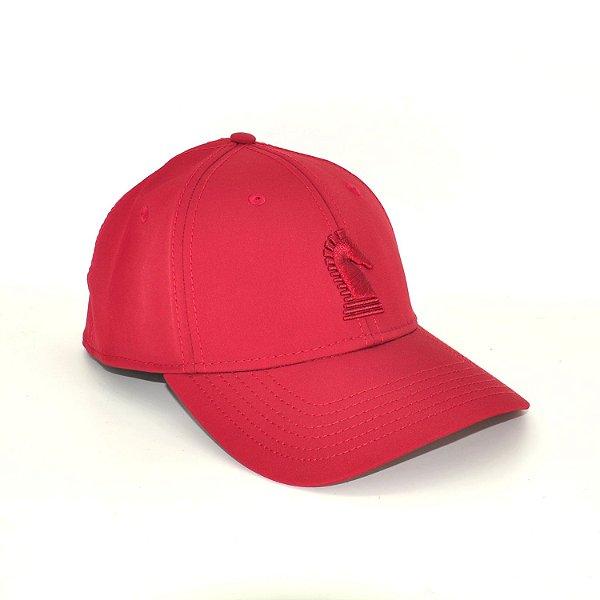 boné vermelho bordado classic 7553