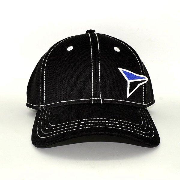 boné preto e azul bordado fast back 7558