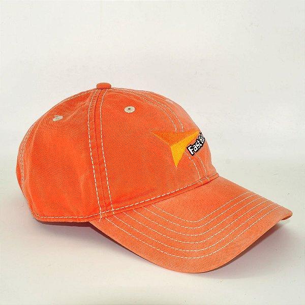 boné laranja bordado fast back  importado 7570