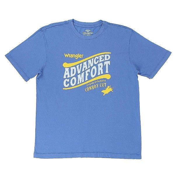 camiseta masculina azul claro wrangler 528.36.1v.40