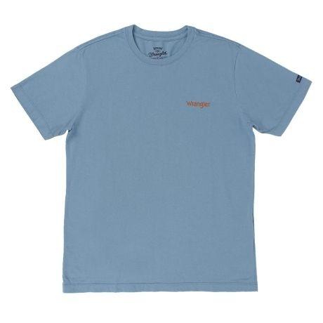 camiseta masculina azul claro wrangler 682.wb.e3.40