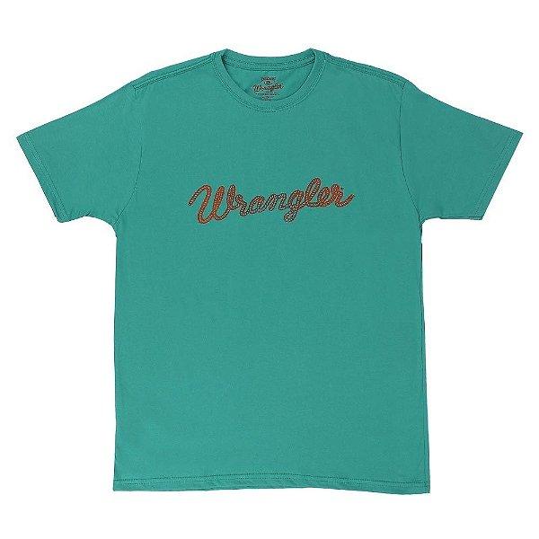 camiseta masculina verde wrangler 502.36.61.40