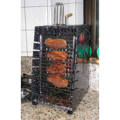 churrasqueira vertical marc grill esmaltada - weber
