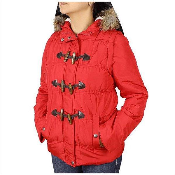 jaqueta feminina vermelha com capuz - wrangler j27.i2.1u.40