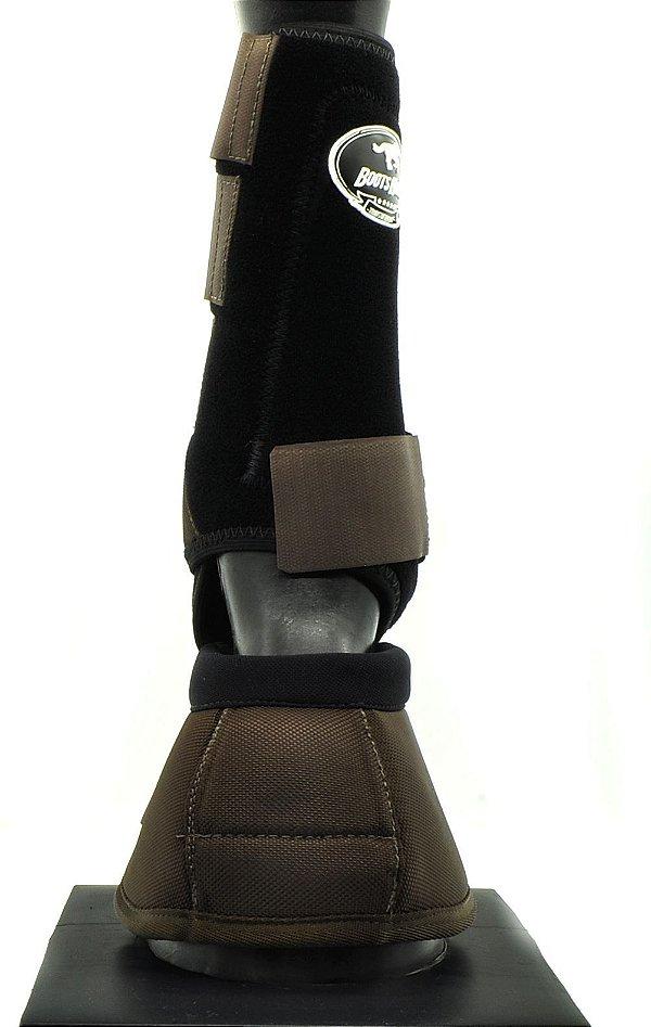 kit cloche 2 boteleira marrom boots horse 256987mr