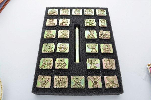 """alfabeto 1"""" 814500 letra maiscula 2,54 cm"""