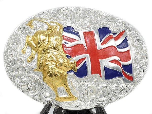 Fivela Oval Bandeira Inglaterra Sumetal 9024