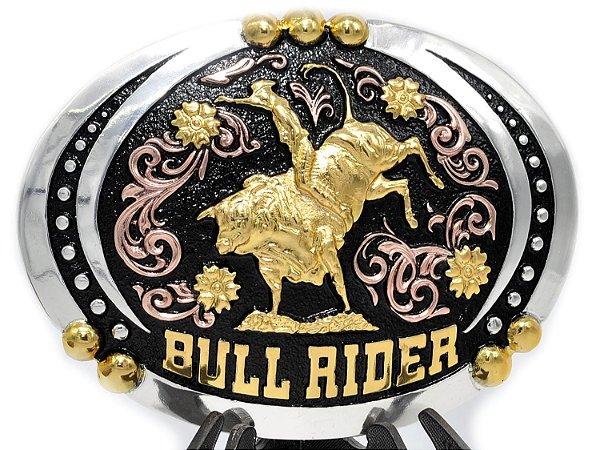 fivela extra grande oval bull rider sumetal 9054