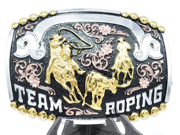 fivela grande team roping sumetal 9048