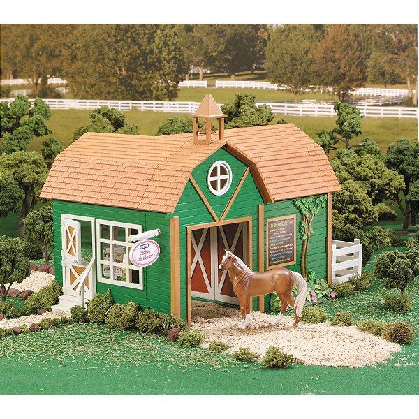 brinquedo academia de equitação breyer