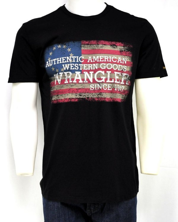 camiseta masculina wrangler preta  wrangler g19.83.98.40