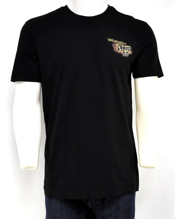 camiseta masculina riding worn black wrangler g24.83.i4.40