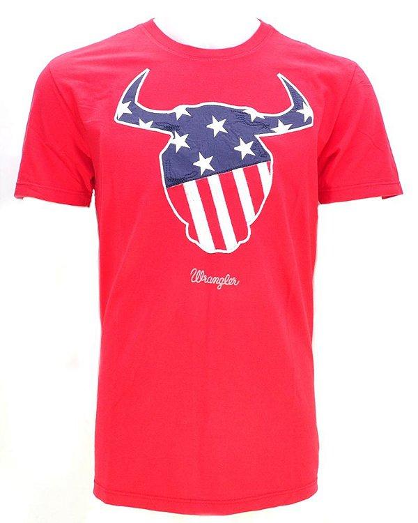 camiseta star vermelha 71476p55 - wrangler
