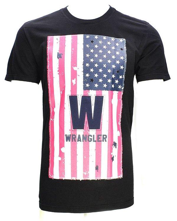 camiseta usa preta 71477p59 - wrangler