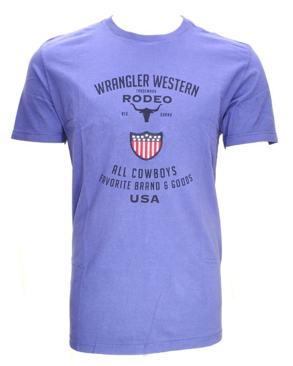 camiseta rodeo azul 71478p51 - wrangler