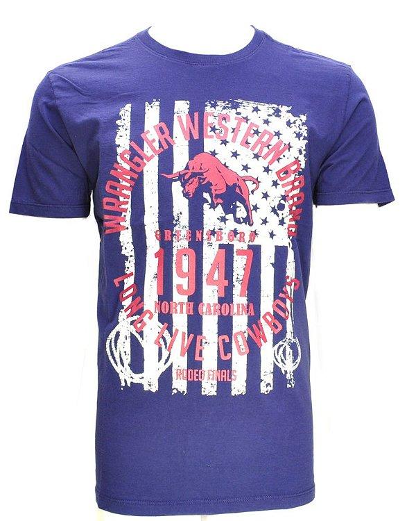 camiseta freedom azul 71479p5o - wrangler