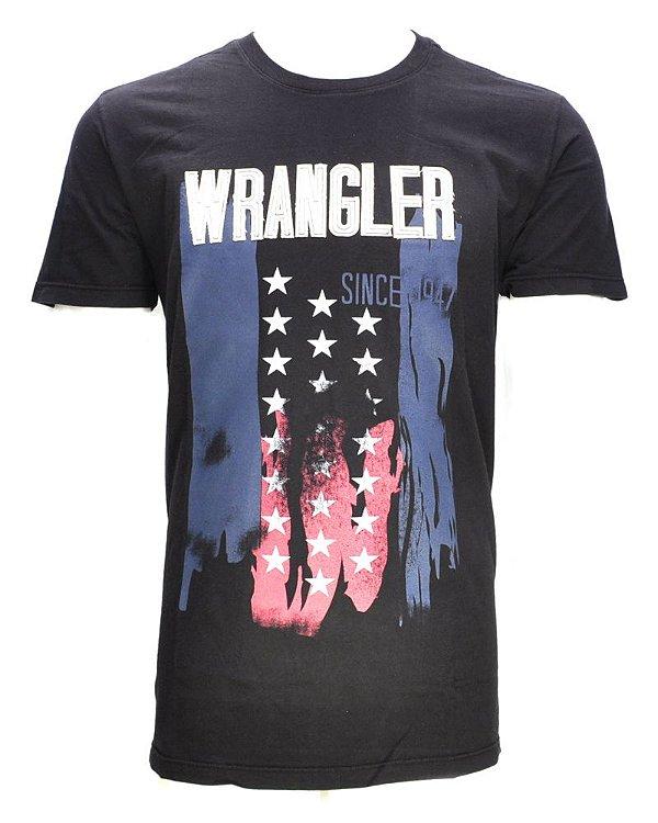 camiseta antique preta 71g22p59 - wrangler