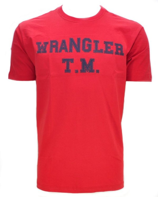 camiseta vermelha g1883504 - wrangler
