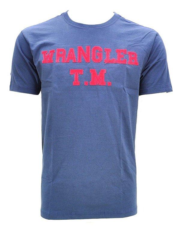 camiseta butch azul g18836d4 - wrangler