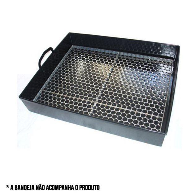 grelha para bandeja churrasqueira apolo mini industrial - weber
