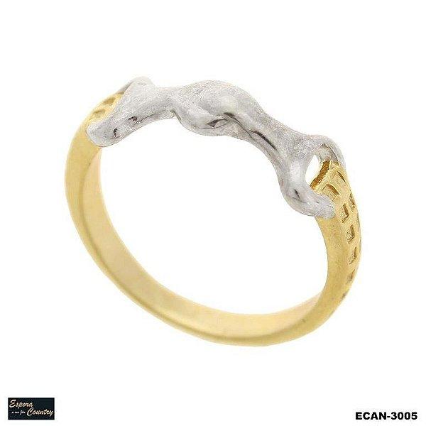anel bridão banho 10 milésimos de ouro 18k