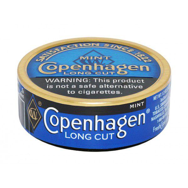 fumo de mascar copenhagen - long cut mint