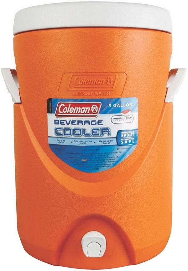 cooler térmico laranja 18,9 litros - coleman