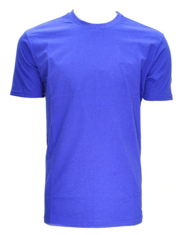 camiseta basic azul 7147b2jc  - wrangler