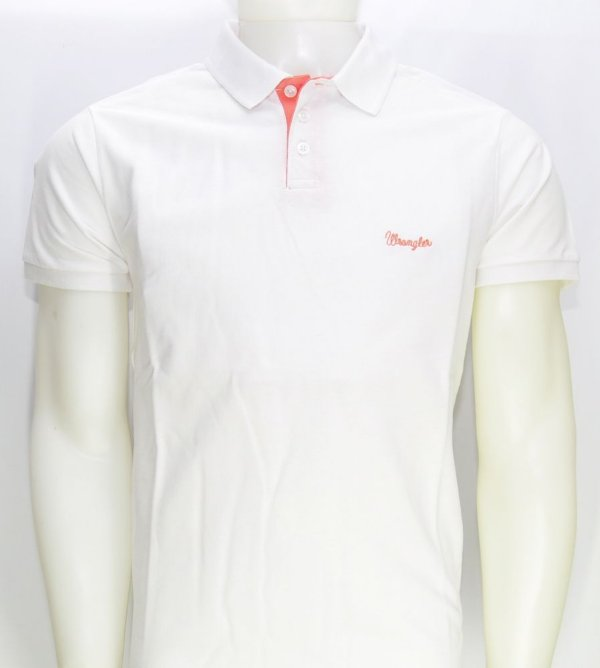 camiseta polo new branca 7167pc56 - wrangler