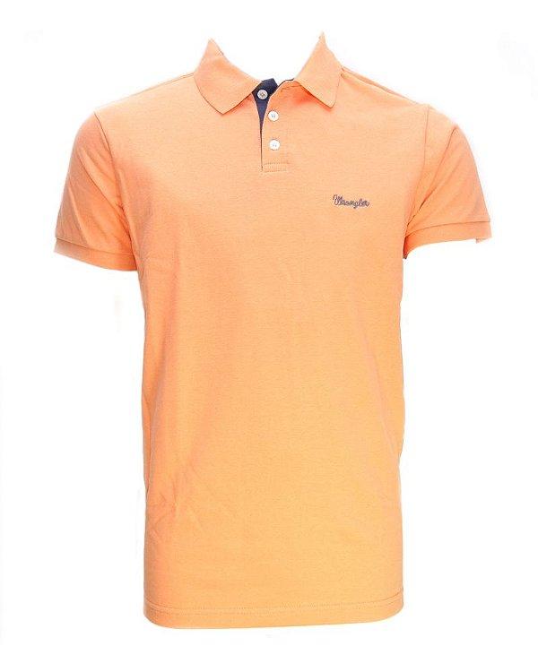 camiseta polo new laranja 7167pc5c - wrangler