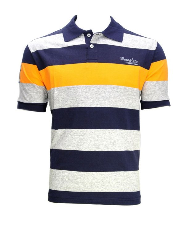 camiseta polo striped 58536vi - wrangler