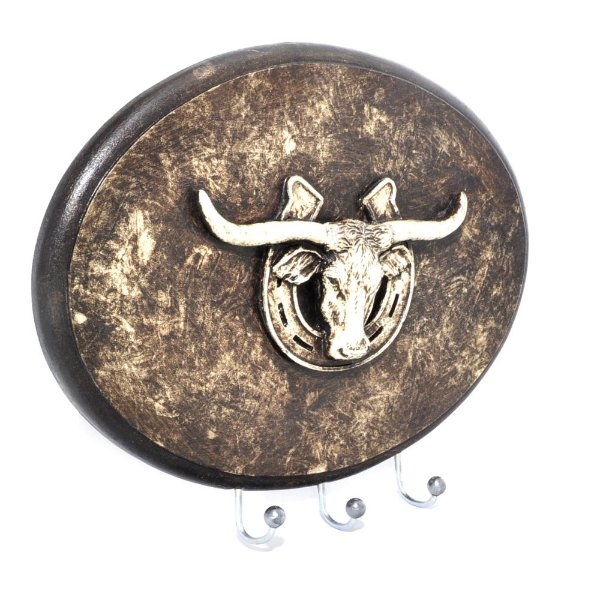 Porta Chaves Long Horn Oval 3 Pinos - 3396
