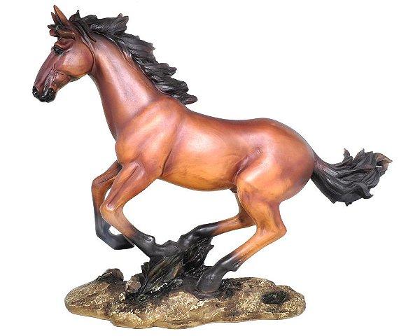 Estatueta Cavalo Marrom G Oldway 41X51Cm