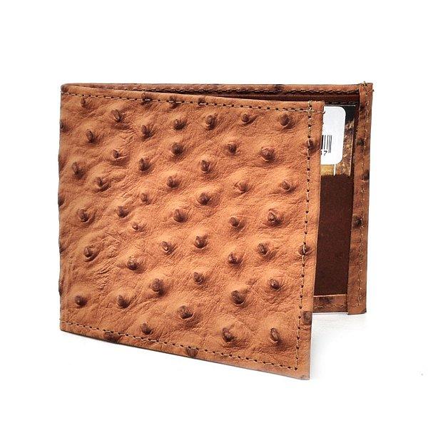carteira réplica avestruz guaraná - cincow 9983