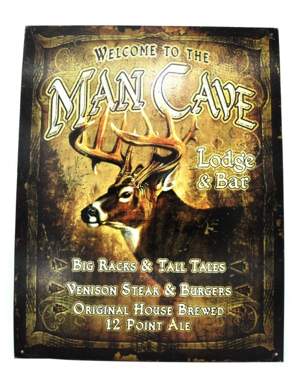 Quadro Na Lata Sem Moldura 41 X 32 Cm - Welcome Man Cave