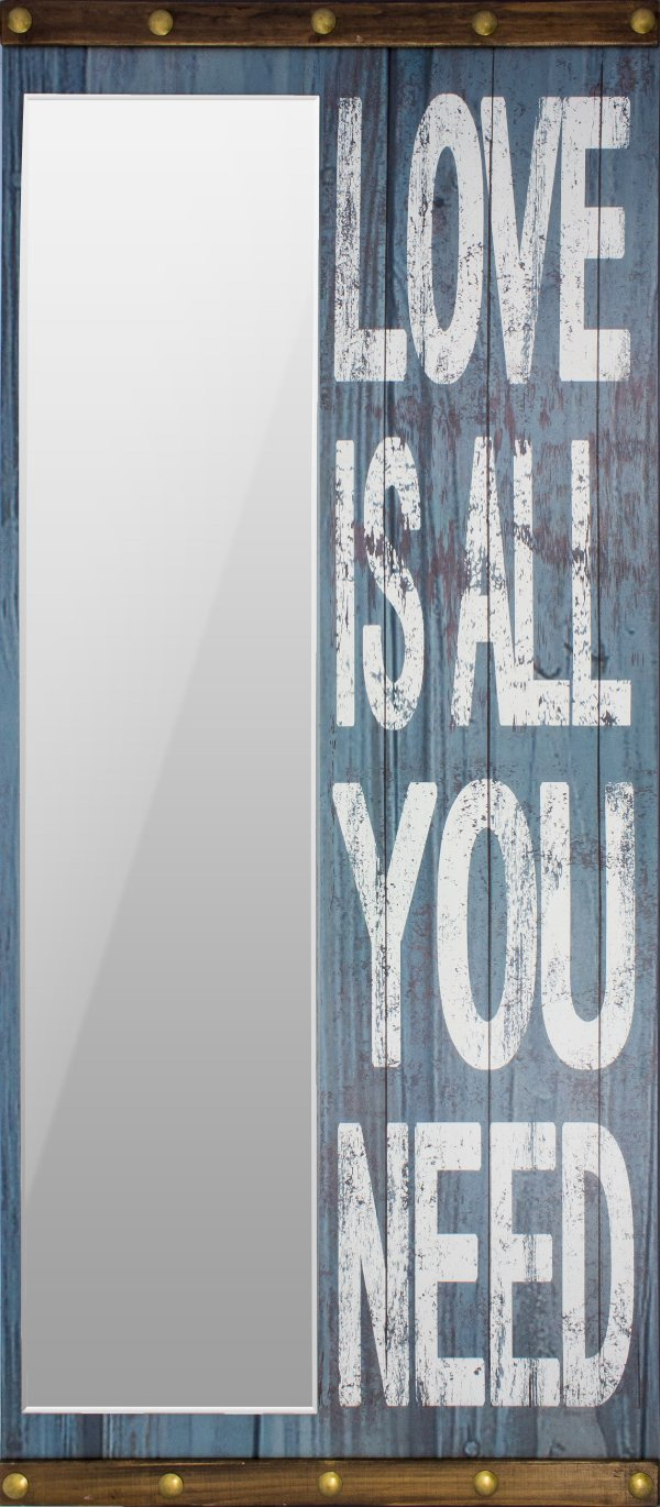 espelho love is all you need blue oldway 200 x 90 x 8cm
