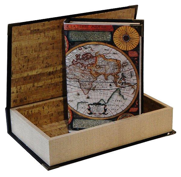 book box 2 peças seda mundi color oldway 33 x 22 x 7cm