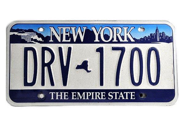 placa de carro decoração eua new york drv-1700 duplicado
