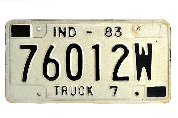placa de carro decoração eua indiana truck 760-12w