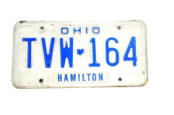 placa de carro decoração eua ohio tvw 164