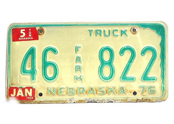 placa de carro decoração eua nebraska 46 822 farm