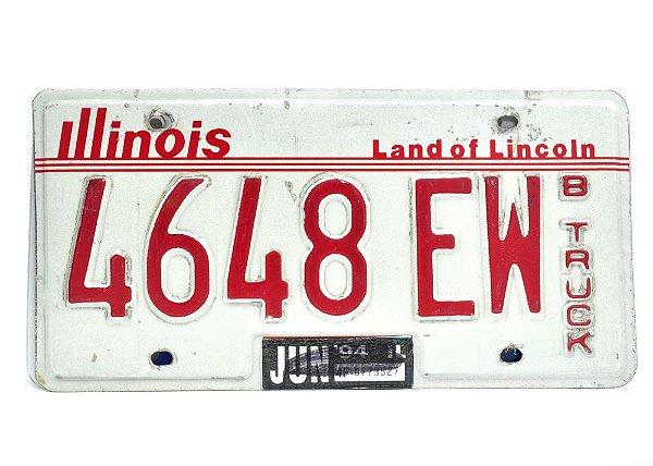 placa de carro decoração eua illinois 4648-ew