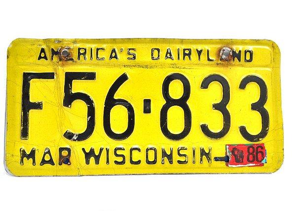 placa de carro decoração eua mar wisconnsin f56-833