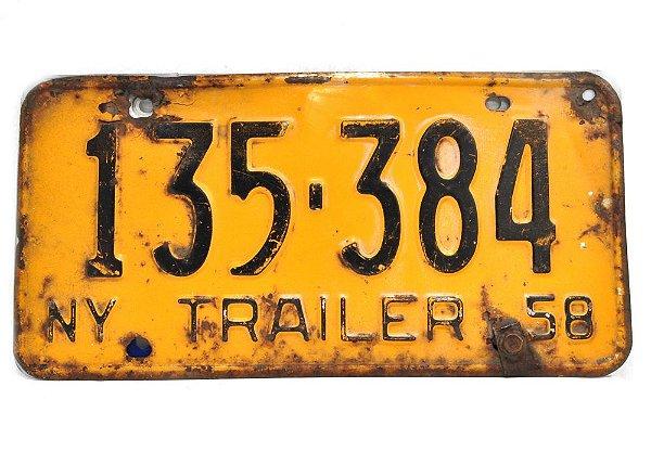placa de carro decoração eua ny trailer 135 384