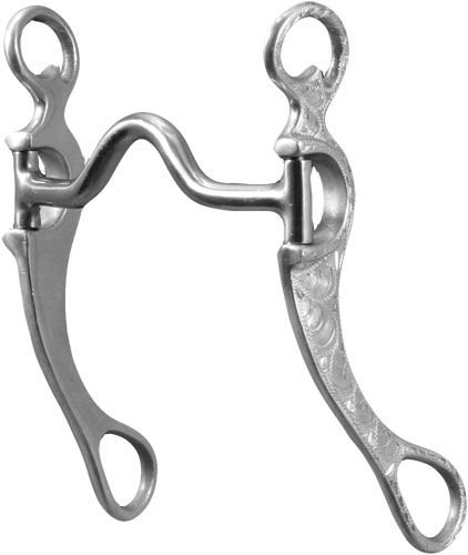 Freio Aluminio Med Port Short Cheek Bit Level 2 - 257319