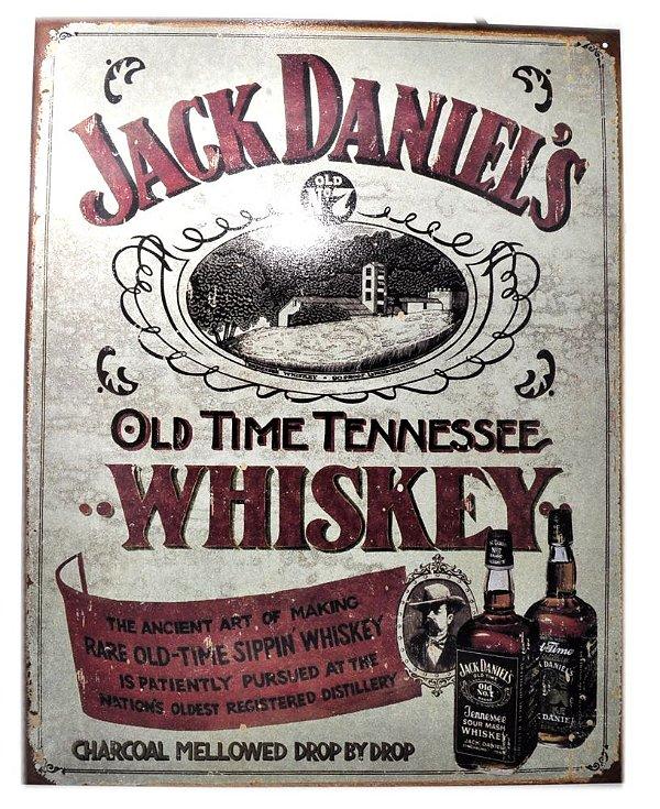 placa decoração jack daniel´s old time tennessee