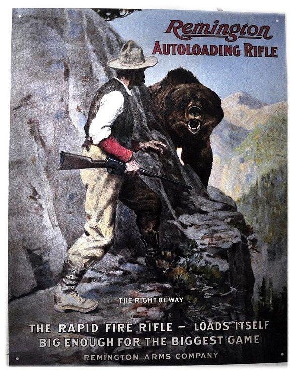 placa decoração remington autoloading rifle