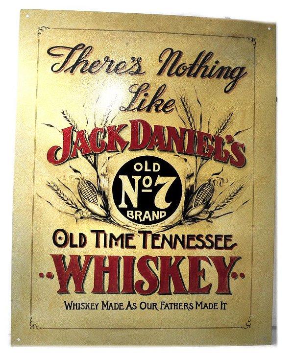 placa decoração there´s nothing like jack daniel´s