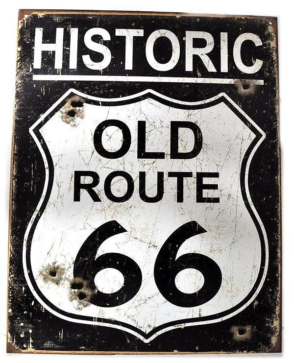 placa decoração historic old route 66