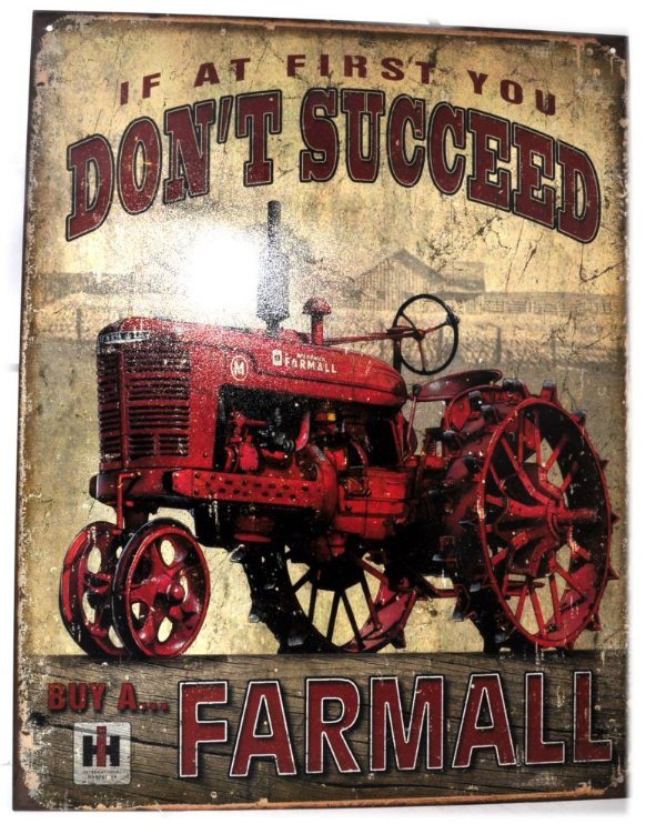 placa decoração if at first you don´t succeed